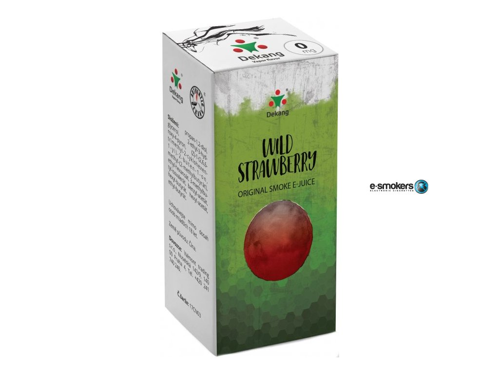 liquid dekang wild strawberry 10ml 0mg lesni jahoda