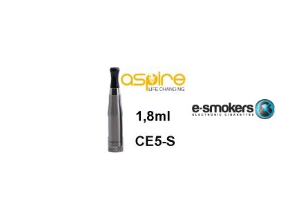 aspire aspire ce5s bdc clearomizer 18ohm 18ml silver