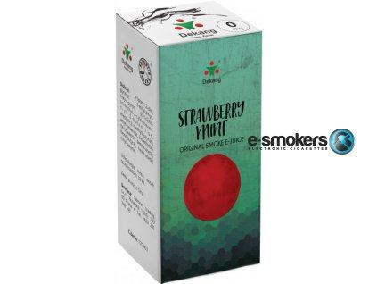 liquid dekang strawberry mint 10ml 0mg jahoda s matou