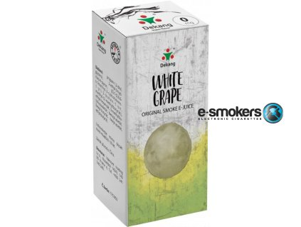 liquid dekang white grape 10ml 0mg hroznove bile vino
