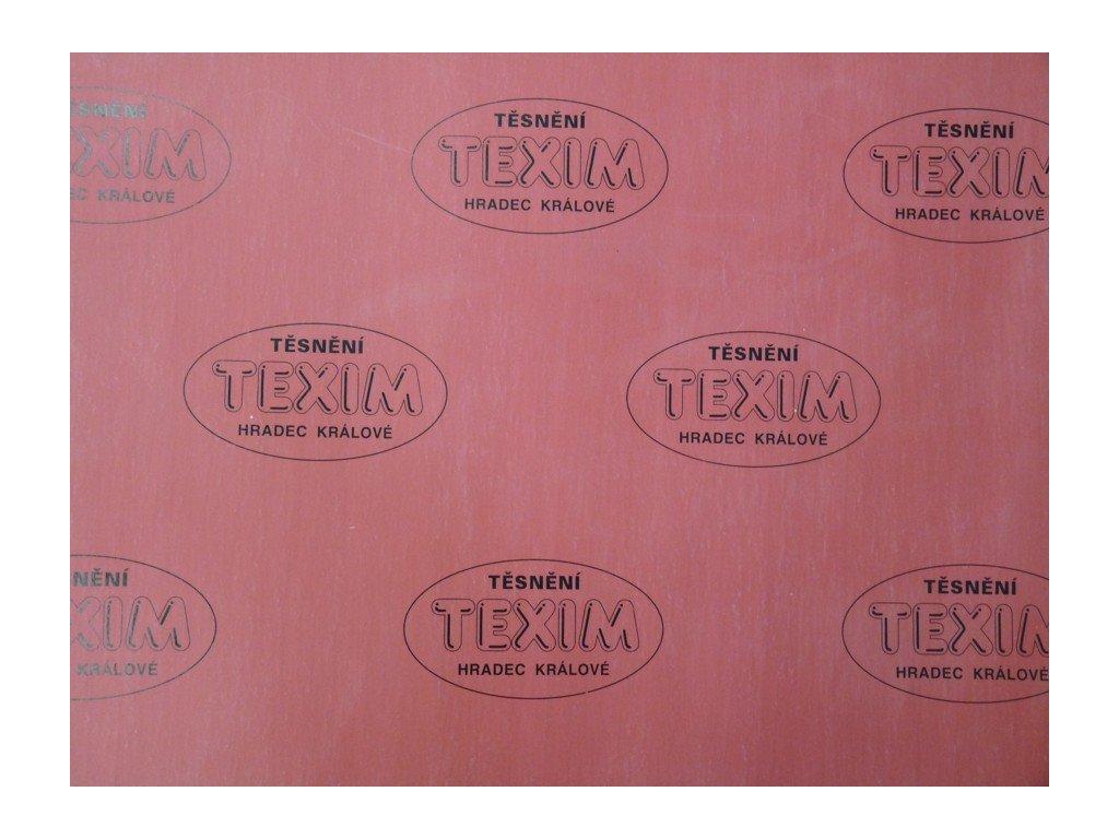 Bezasbestová deska TEXIM červená 1,5  Temafast červená 1,5