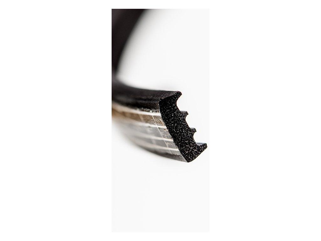 Samolepící těsnění KR 9x3 mm černá 150 m  K kronlist 9 x 3 černá 150 m