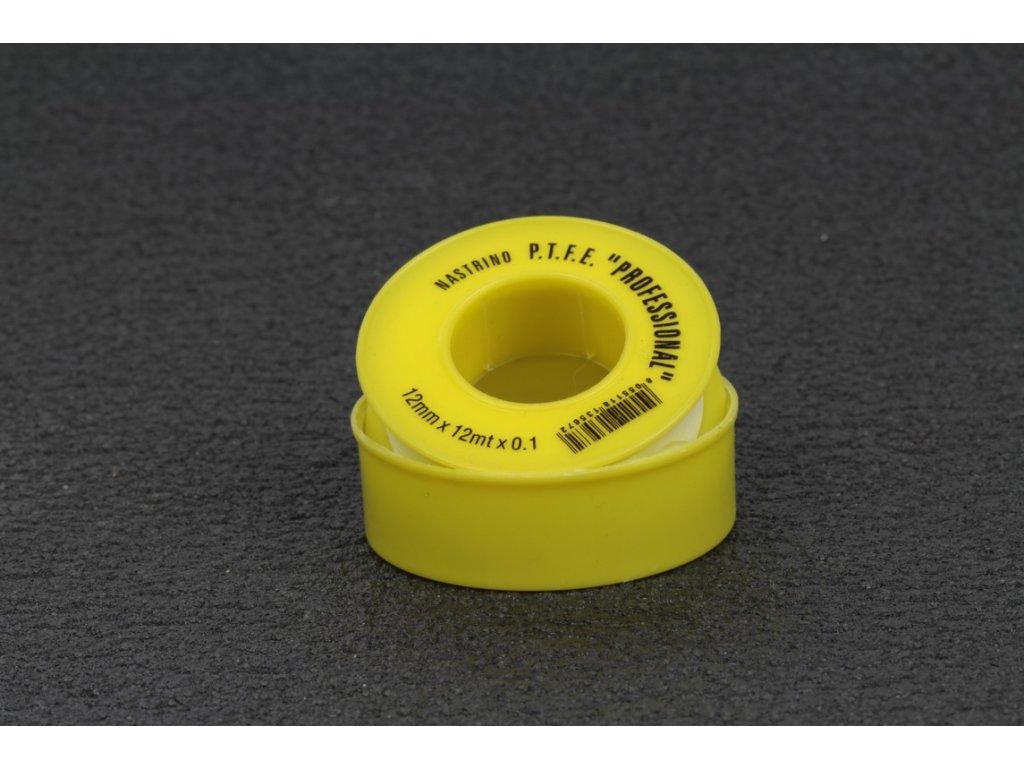 Teflonová páska 12 mm x 0,1 mm balení 10m  Teflonová páska 12 mm x 0,1 mm