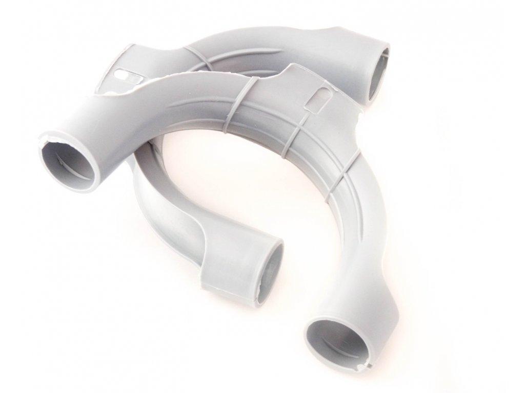 Držák pračkové hadice - plastový ohyb