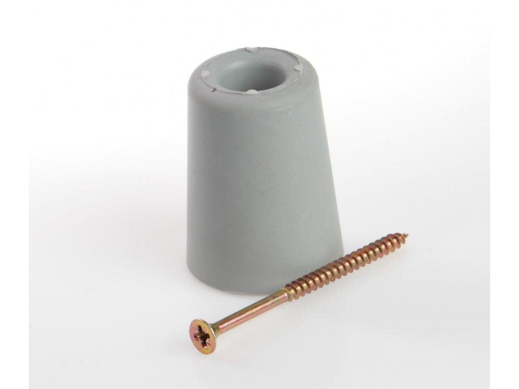 Zarážka dveří se šroubem výška 50mm ŠEDÁ Trelleborg