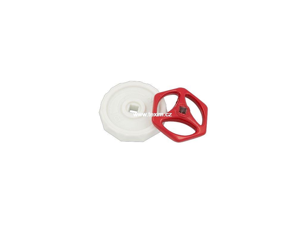"""Ruční kolečko mosazného ventilu K-350 1/2"""" DN15  hliník K-350.1 1/2"""""""