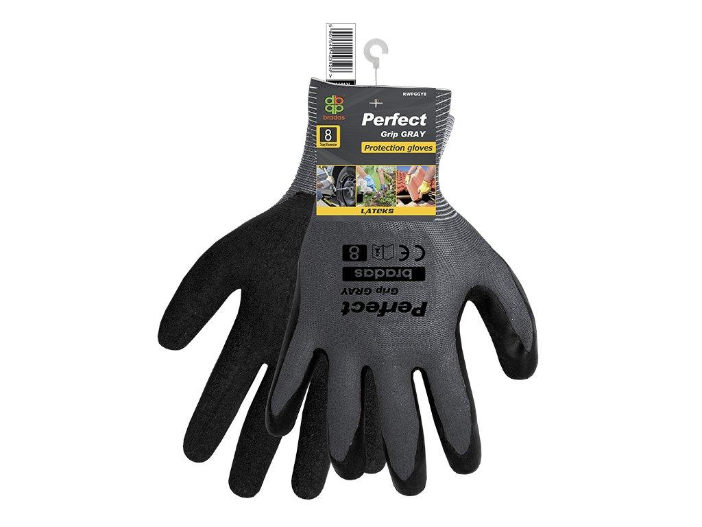 Pracovní rukavice PERFECT GRIP šedé latex
