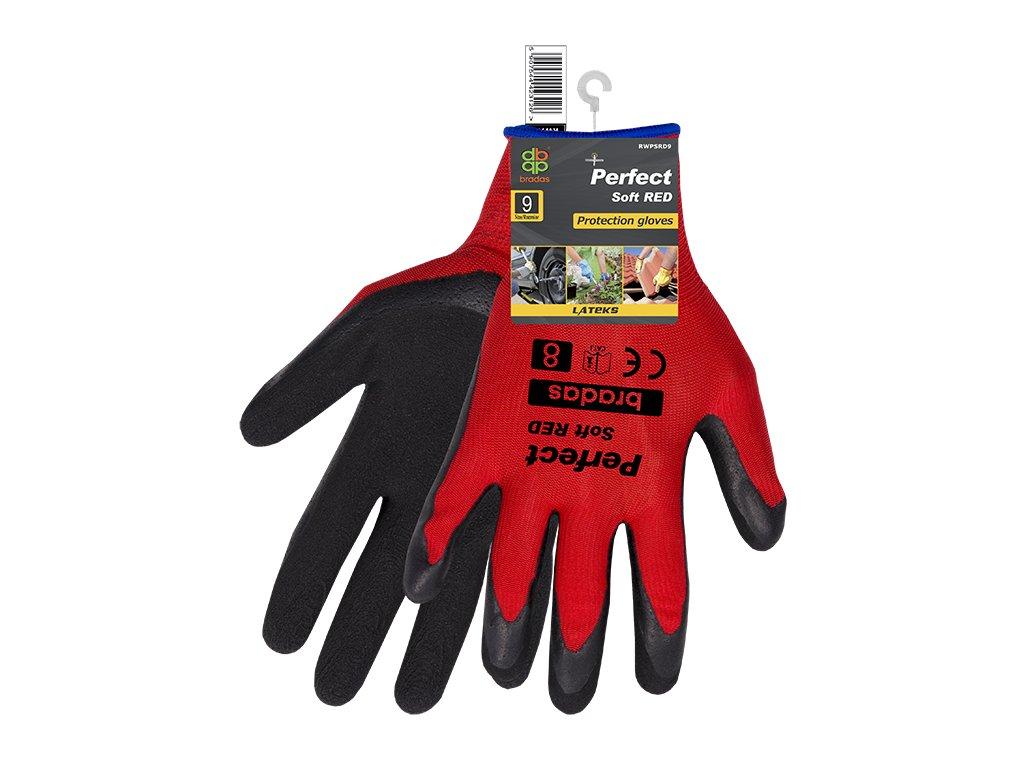 Pracovní rukavice PERFECT SOFT červené