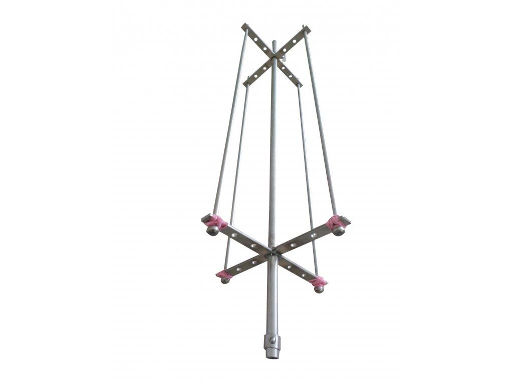 Nerezová grilovací jehla 110 cm kříž