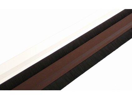 Samolepící těsnící lišta dveří s kartáčem BÍLÁ 1m  TEXIM staff těsnící lišta na dveře bílá 1 metr