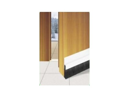 Samolepící těsnící lišta dveří s kartáčem HNĚDÁ 1m  TEXIM staff těsnící lišta na dveře hnědá 1 metr