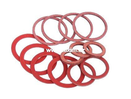Těsnící kroužek fíbr 6x10x1,5 těsnění manometru
