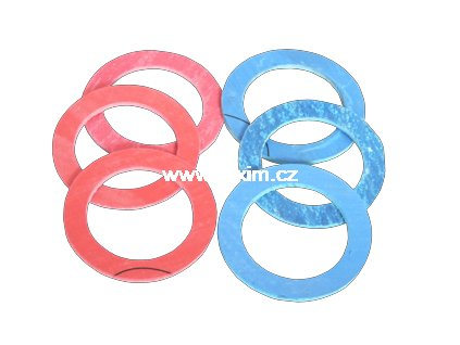 Těsnění hadiček ploché bezazbest 11x19x2  Těsnění hadicových přípojek