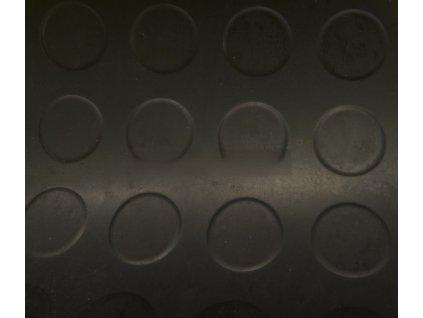 Pryž metráž penízková černá š.1200mm