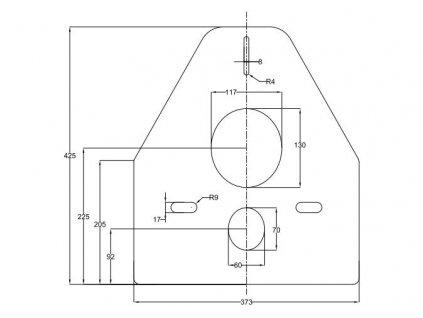 Izolační podložka pro závěsné WC  vhodné i pro Alcaplast