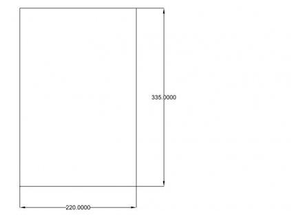 Podložka universal mechová pryž 220x330x5mm