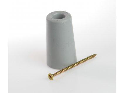 Zarážka dveří se šroubem výška 65mm ŠEDÁ Trelleborg