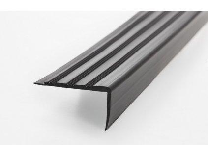Hrany na schody černé - 1 ks = 2,5m