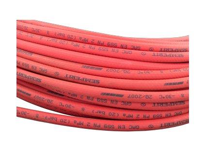 Hadice pro sváření-plyn 8x3,5 červená