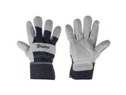 Pracovní rukavice IRON BULL velikost 10,5, šedé