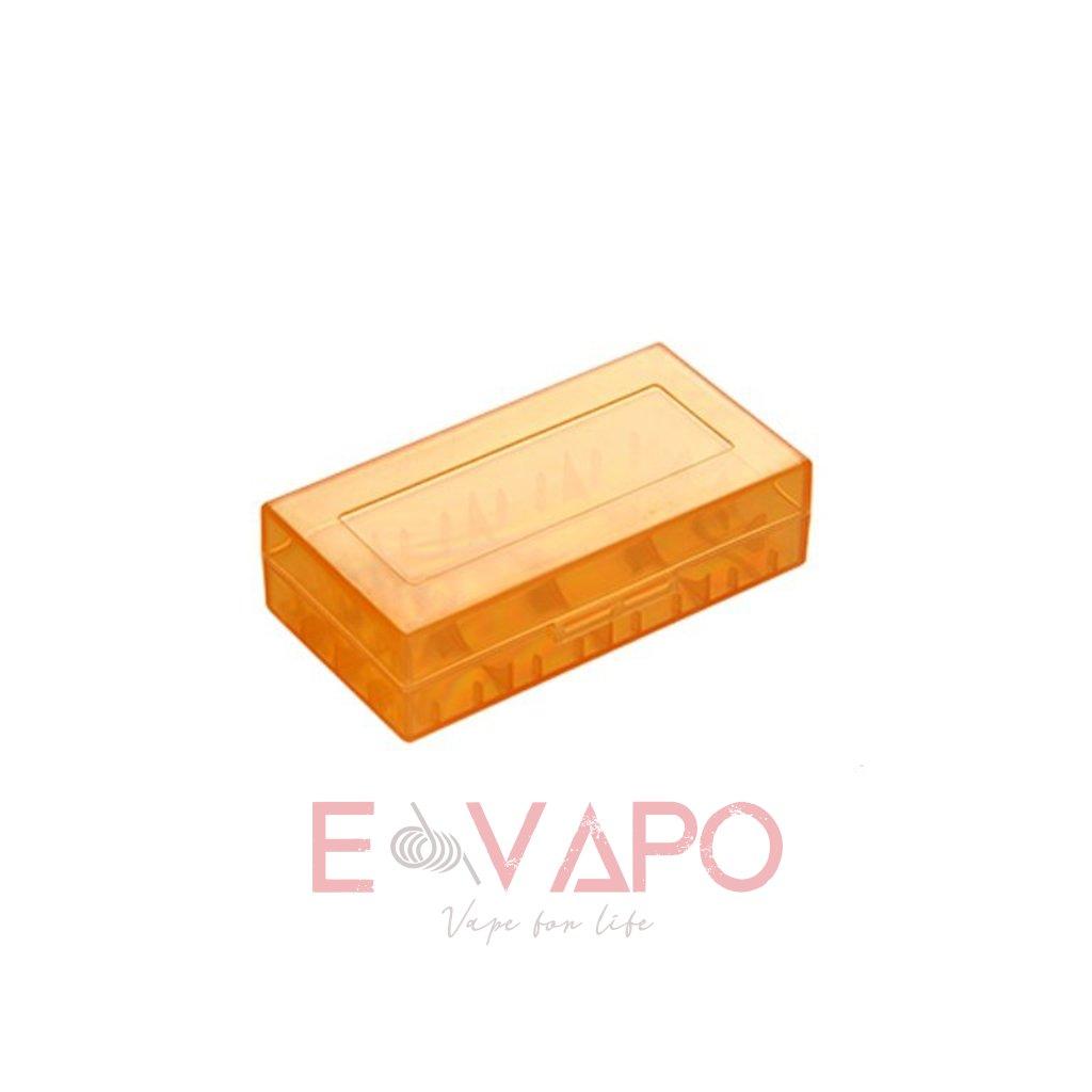 6387 2 plastove pouzdro pro baterie 18650 18350 oranzove