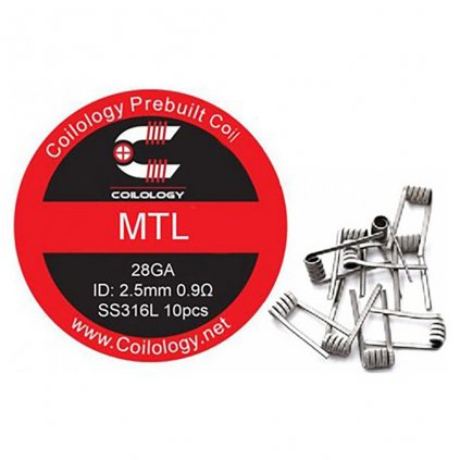 Coilology předmotané spirálky pro MTL 0,9Ω SS316L, 10ks