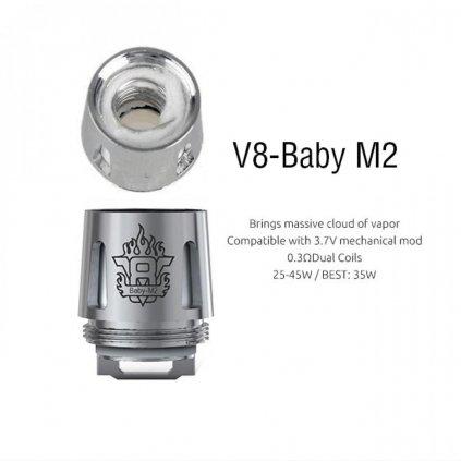 Smok - TFV8 baby M2 0,15 ohm žhavící hlava