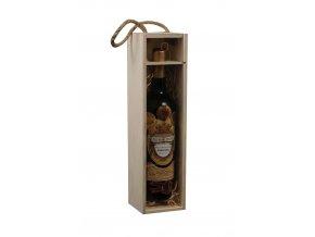 Nosič na 1 láhev vína - prosklený C0003