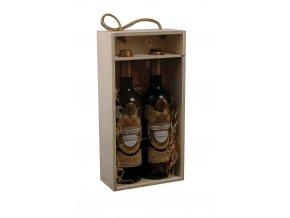 Nosič na 2 láhve vína - prosklený C0006