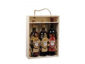 Nosič na 3 láhve vína - prosklený C0007
