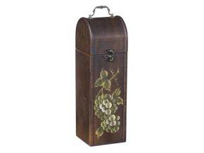 Dřevěná krabička na 1 víno F0001