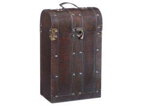 Dřevěná krabička na 2 vína F0004