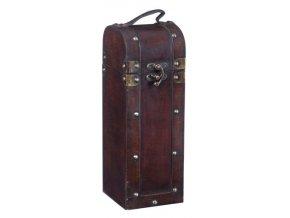Dřevěná krabička na 1 víno F0005