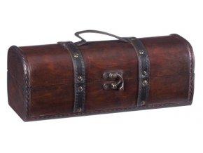 Dřevěná krabička na 1 víno F0006