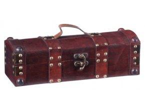 Dřevěná krabička na 1 víno F0007