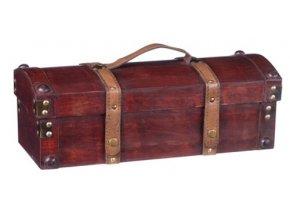 Dřevěná krabička na 1 víno F0008