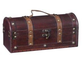 Dřevěná krabička na 1 víno F0010