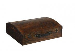 Dřevěná krabička na 4 vína F0013