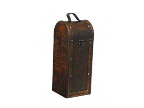 Dřevěná krabička na 1 víno F0014