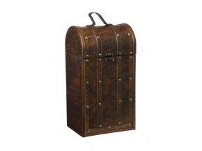 Dřevěná krabička na 2 vína F0015
