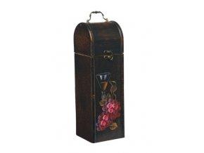 Dřevěná krabička na 1 víno F0018