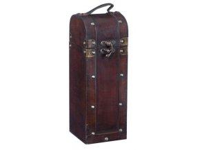 Dřevěná krabička na 1 víno F0023, prodloužená