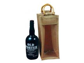 Jutová taška na portské víno J0004