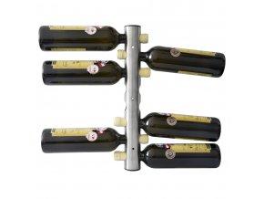 Nerezový stojan na 8 vín, nástěnný P0005