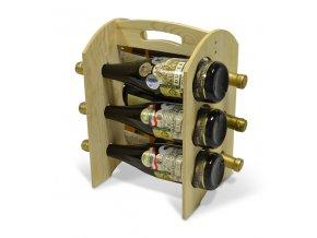 Stojan na 6 láhví - dřevěný R0006