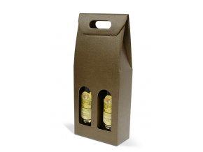 Kartónový box Marrone na 2 láhve SD002