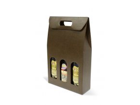 Kartónový box Marrone na 3 láhve SD003