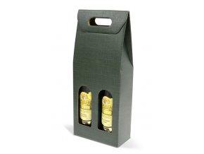Kartónový box Verde na 2 láhve SD008