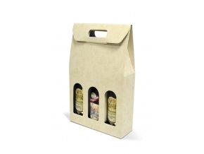 Kartónový box Sabbia na 3 láhve SD011