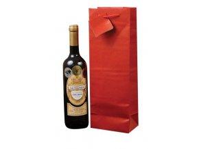 Papírová taška na 1 láhev T0006